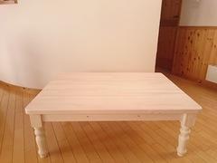 ホワイトウォッシュのこたつテーブル
