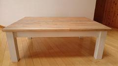 ウォールナット色のシャビーこたつテーブル