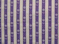 917292A ストライプ 花 A 紫