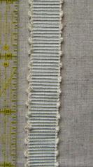 ブレード 横縞ピコ(太) うすい水色×生成