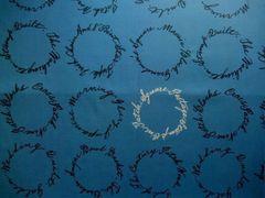 SZ829610E  Circle with letters E  グリーニッシュブルー