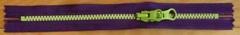 カラフルファスナー20cm 紫×きみどり