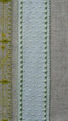 ブレード ドット 白×ペールグリーン