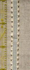 ブレード 横縞ピコ(細) うすい水色×生成