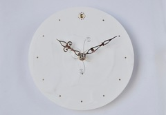 白い時計(20cm)