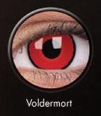 ふちあり赤コン【Crazy lens Voldemort】コスプレ専用カラコン2枚セット
