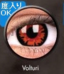 ふちあり赤花コン【Crazy Lens Volturi】コスプレ専用カラコン2枚セット