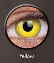 ベタ黄コン【Crazy Lens Yellow】コスプレ専用カラコン2枚セット