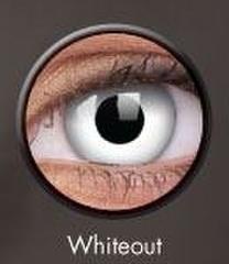 ふちなし白コン【Crazy Lens Whiteout】コスプレ専用カラコン2枚セット