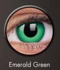 ベタ緑コン【Crazy Lens Emerald Green】コスプレ専用カラコン2枚セット