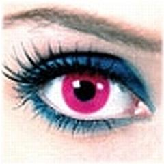 【PINK(RED) FLASH】度なしブラックライト発色コン『DISCO LENS』 2枚1セット
