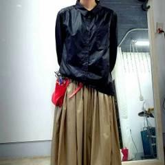 ロングシャツブラック