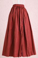 ロングスカート柄赤黒