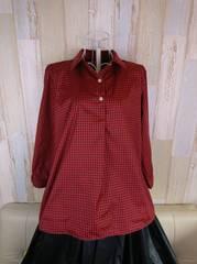 チェックシャツ赤✕黒 XL
