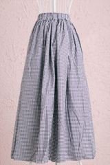 ロングスカート柄パープル