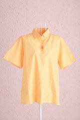 チェックシャツイエロー半袖