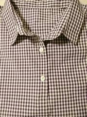 チェックシャツパープル