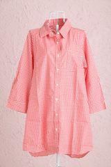 ロングシャツ柄バージョン赤白