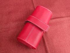 イタリア製ポータブル時計ケース 6本用 赤 6-1