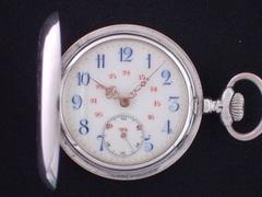 AT-34 無銘懐中時計 ウイリアム・テル シルバーハンターケース