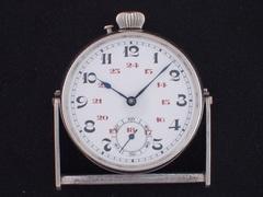 AL-52 無銘 卓上時計 手巻き シースルーバック
