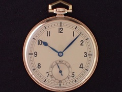 AS-5 NIVIA K14YG 薄型懐中時計