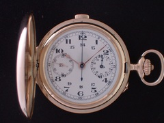 AT-41 ホイヤー クロノグラフ懐中時計  K14YGハンターケース