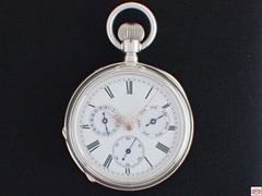 AT-73 無銘 カレンダー懐中時計 シルバーケース