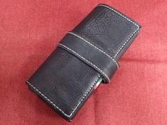 イタリア製ポータブル時計ケース 5本用(懐中時計対応) ブルーブラック 5-1