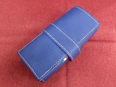 イタリア製ポータブル時計ケース 6本用 ブルー 6-7