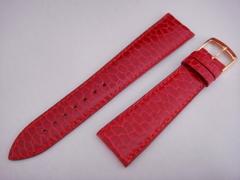 「Jean-Claude Perrin」のビーバー革バンド 赤20mm