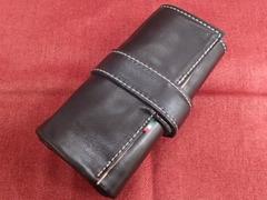 イタリア製ポータブル時計ケース スケルトン 5本用(懐中時計対応) ブラック 5-6