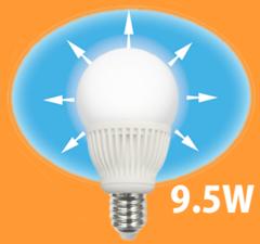 350度配光角LED電球[9.5W]REGALO