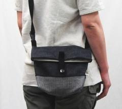【簡単手作りキット】デニム・フタ折れショルダーバッグ