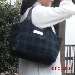 型紙/スクエアー型ハンドルトートバッグ