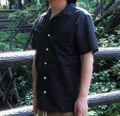 【手作りキット】シルキードットで作るメンズ半袖開襟シャツ