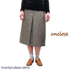 【生地+型紙】リネンコットンツイルで作るインバーテッドスカート