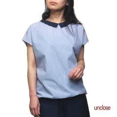 型紙/バルーンヘムちび衿ブラウス