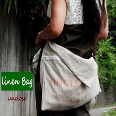 (簡単手作りキット)フレンチリネンで作るぺちゃんこショルダーバッグ