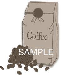 No373 カフェ コーヒー豆 セピア調