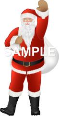 No414 クリスマス サンタクロースのイラスト