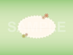 No.589 小花のタイトルマーク グリーン