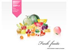 No627 果物 フルーツ 3 【AI】
