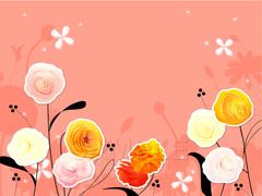 No.657 キラキラ☆お洒落な花 オレンジ