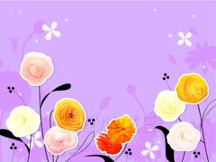 No.658 キラキラ☆お洒落な花 パープル
