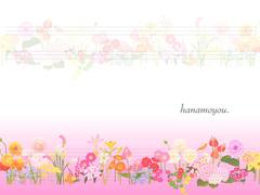 No.769 おしゃれな花のイラスト ピンク