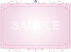 No801 キラキラ素材 飾り枠 イラスト ピンク