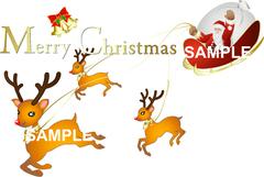 No913 クリスマス サンタクロース  メリークリスマスロゴ入り