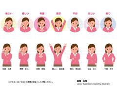 No.983 人のイラスト 表情 女性 【AI】