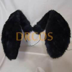 うさ耳(黒&黒)カチューシャタイプ